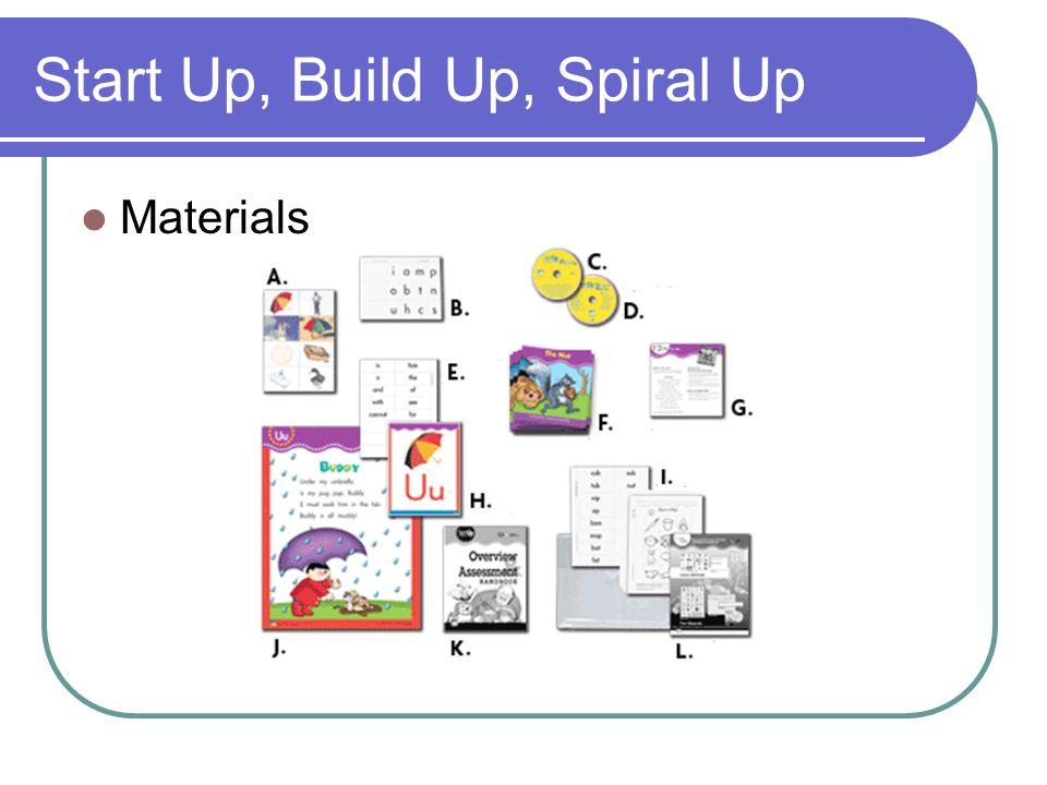 Start Up, Build Up, Spiral Up Materials