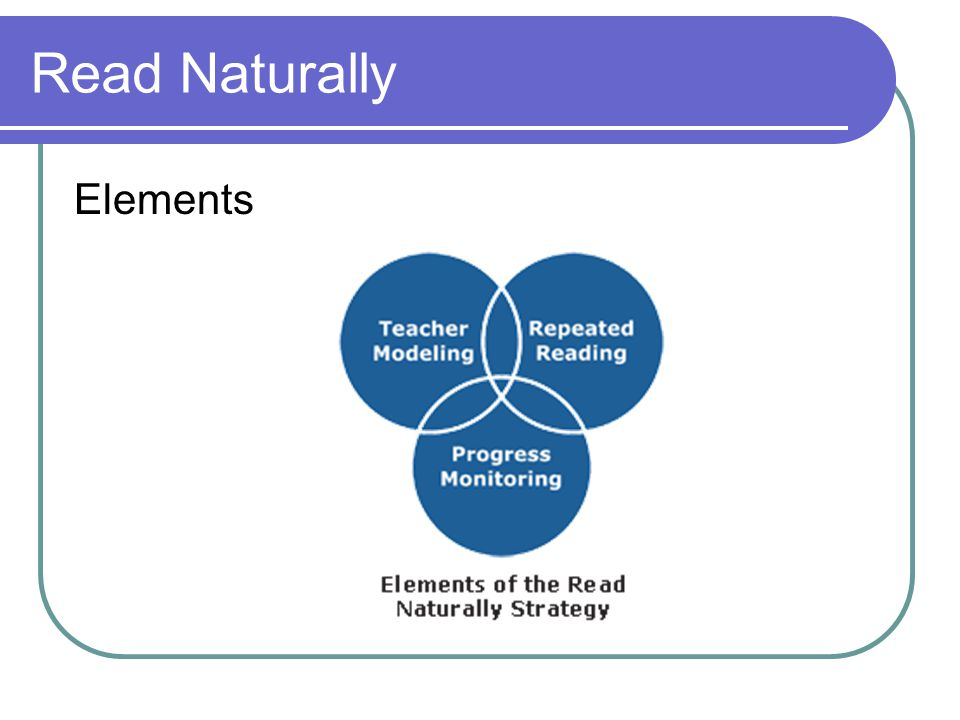Read Naturally Elements