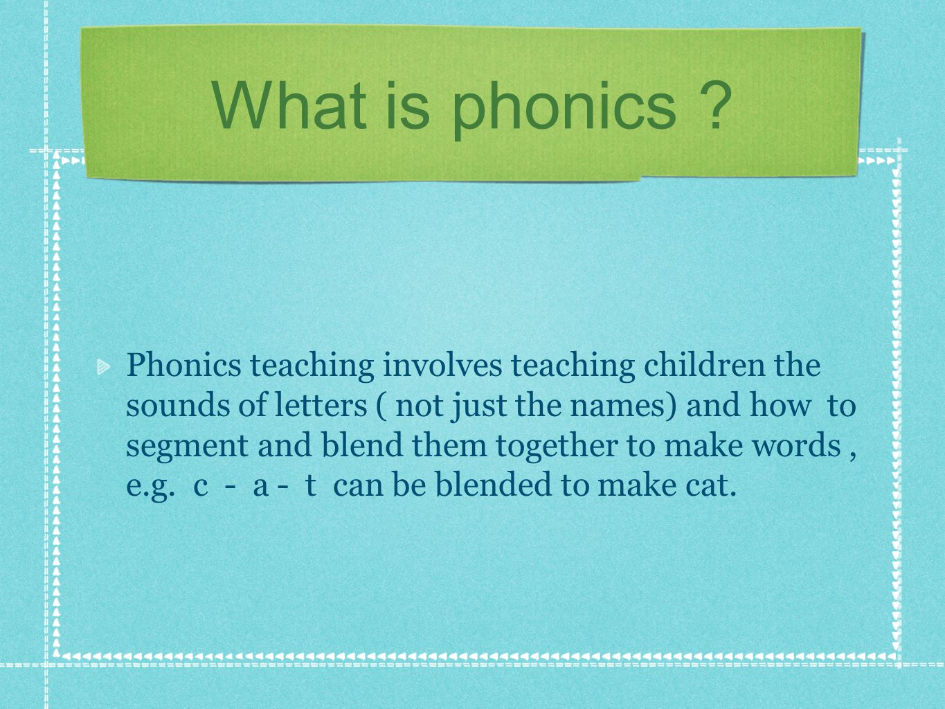 This Open Morning aims to… To provide information about how your child is learning phonics and reading.