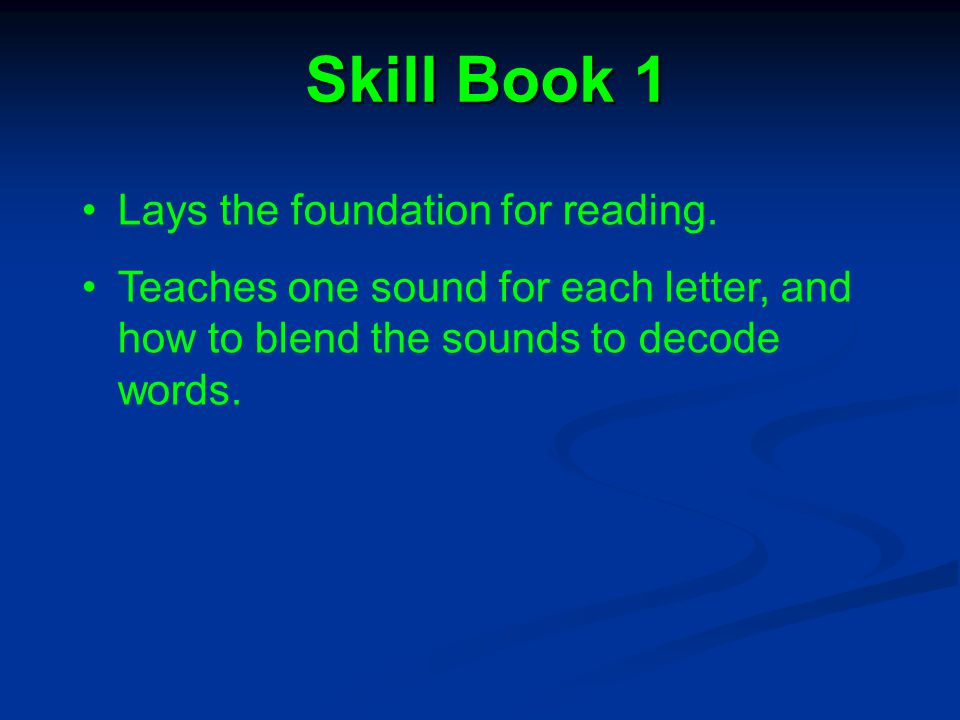 Content of LWR There are four Skill Books in the series.