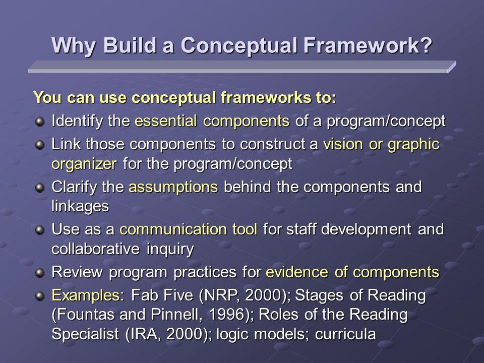Why Build a Conceptual Framework.