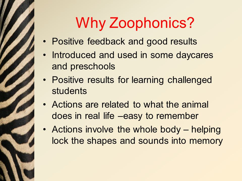 Why Zoophonics.