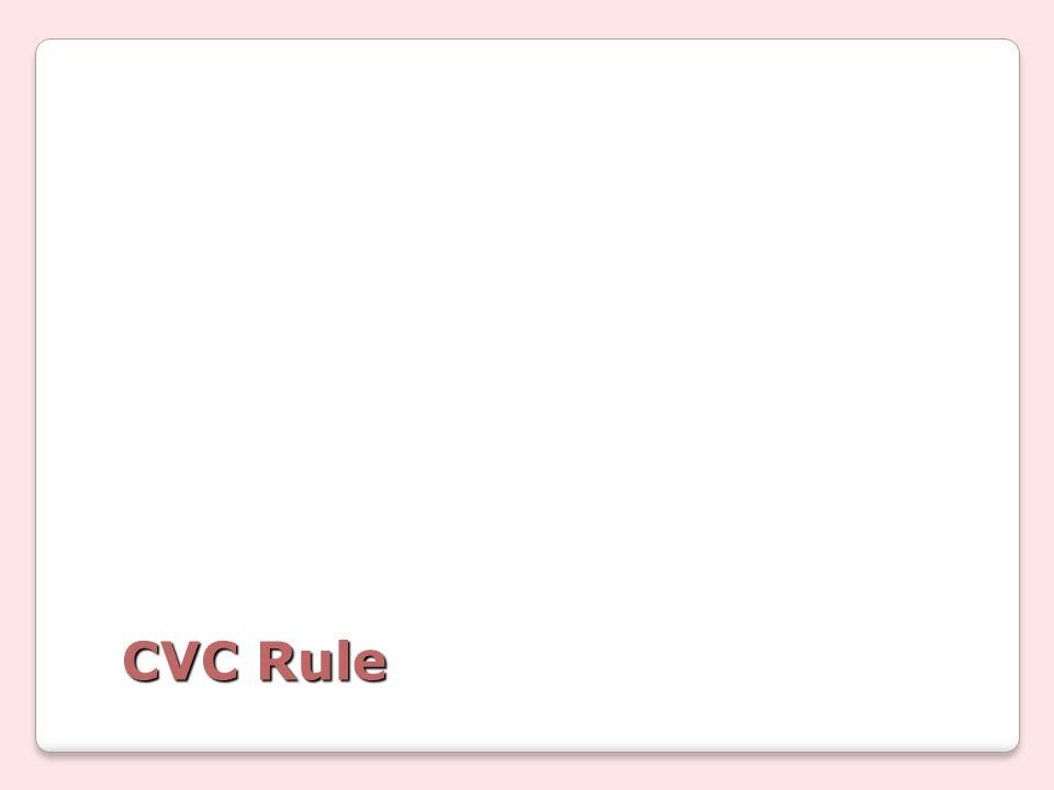 CVC Rule