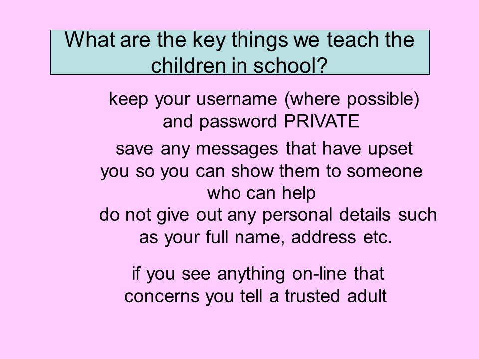 What are the key things we teach the children in school.