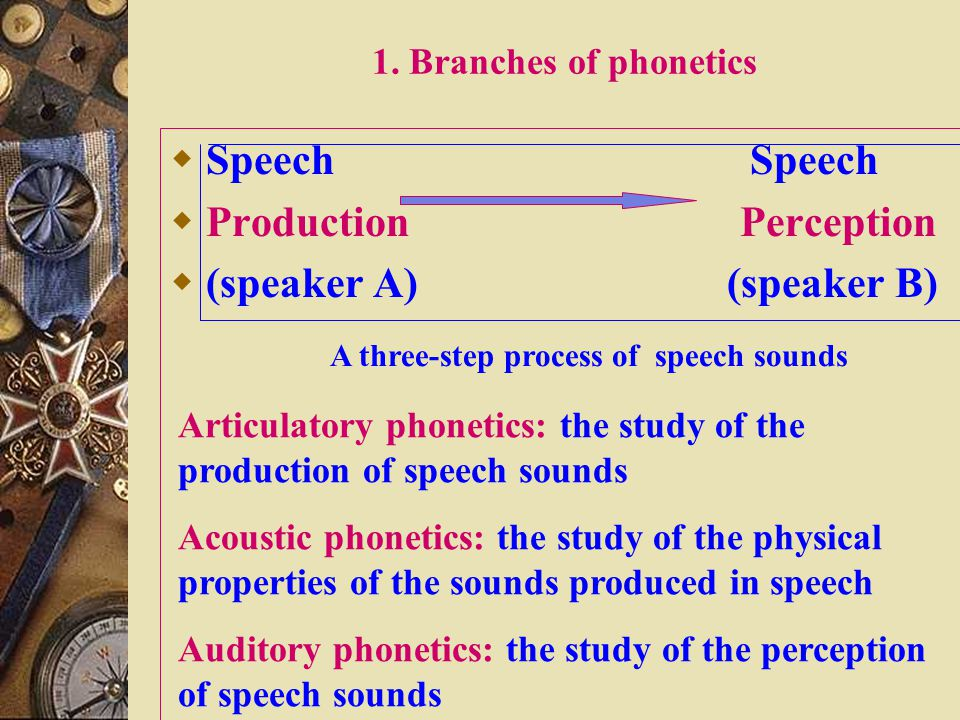 2.2 Phonetics  Questions:  What's phonetics