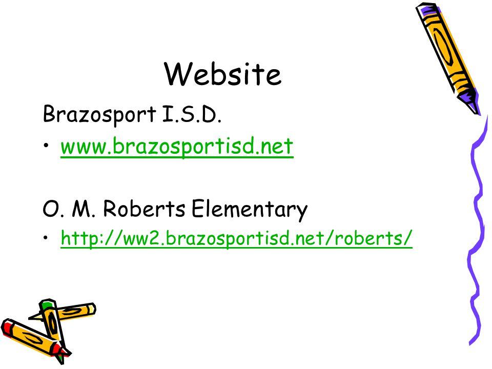 Website Brazosport I.S.D. www.brazosportisd.net O.