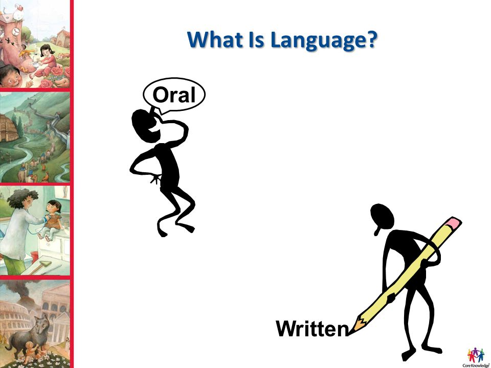 What Is Language Oral Written