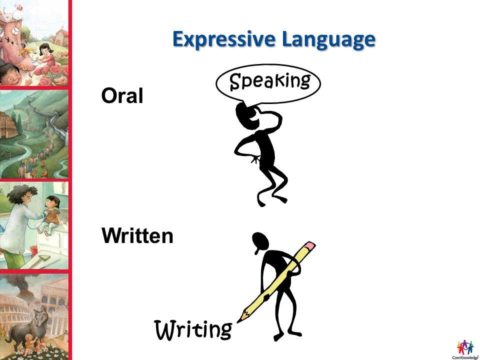 Expressive Language Speaking Writing Oral Written