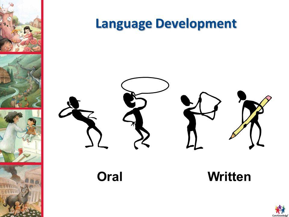 Language Development OralWritten
