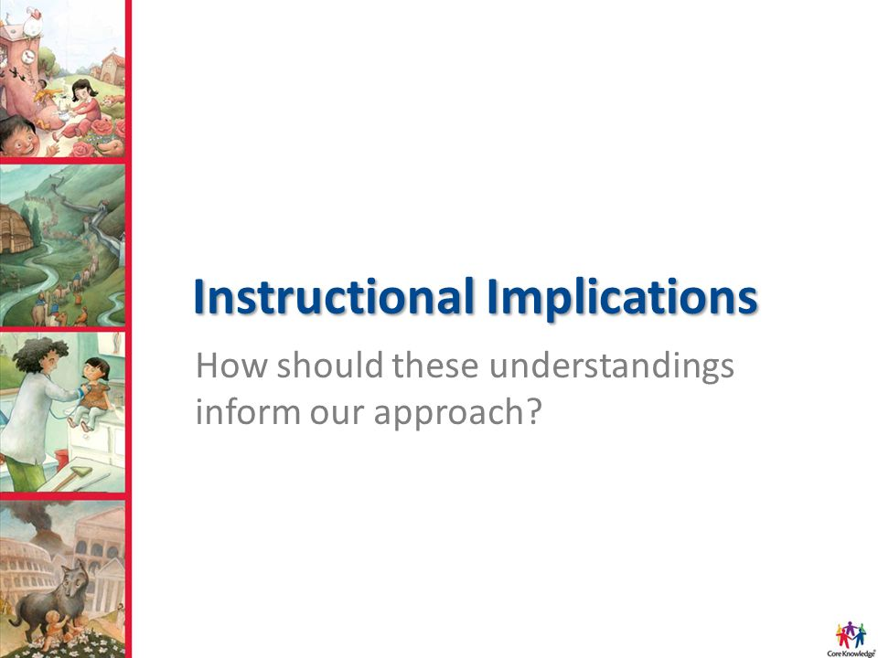 Instructional Implications How should these understandings inform our approach