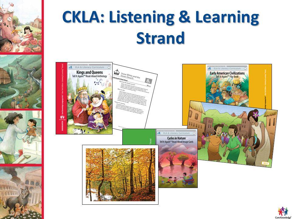 CKLA: Listening & Learning Strand