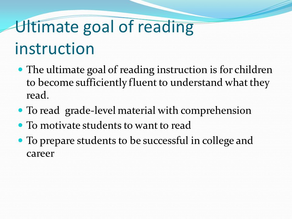 DRA book levels Based on word count, text complexity, sentence length Essential for teachers to understand Students should be able to read multiple books FLUENTLY at a level before he is assessed and moved up.