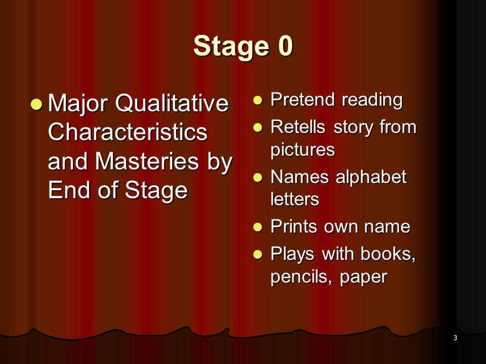 2 Stage 0: Pseudo Reading Preschool (ages 6 months to 6 years)