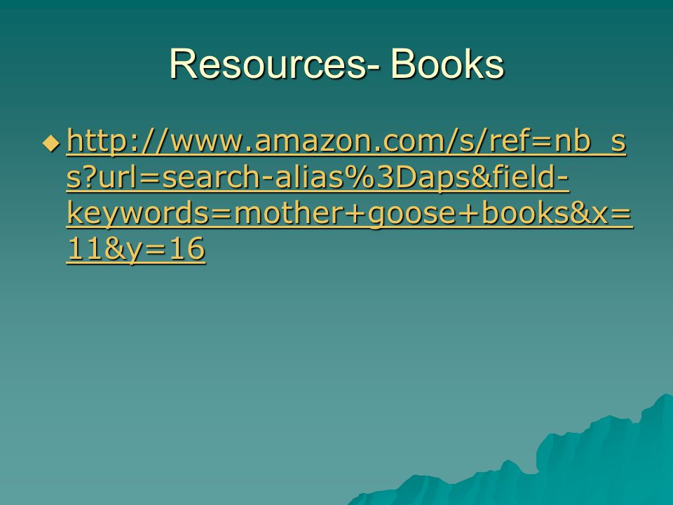 Resources- Books