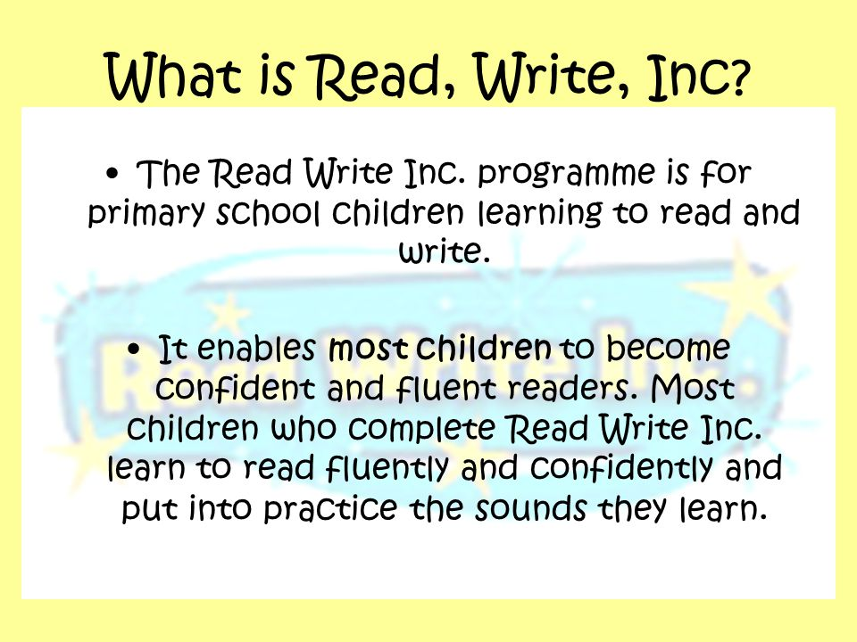 What is Read, Write, Inc. The Read Write Inc.