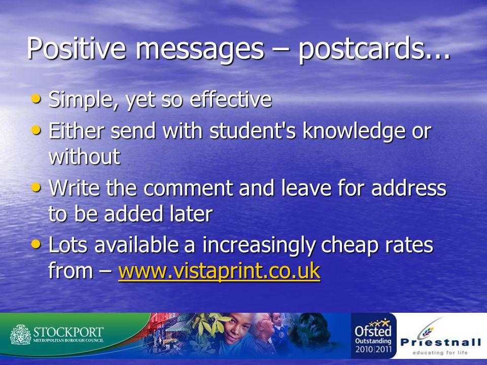 Positive messages – postcards...