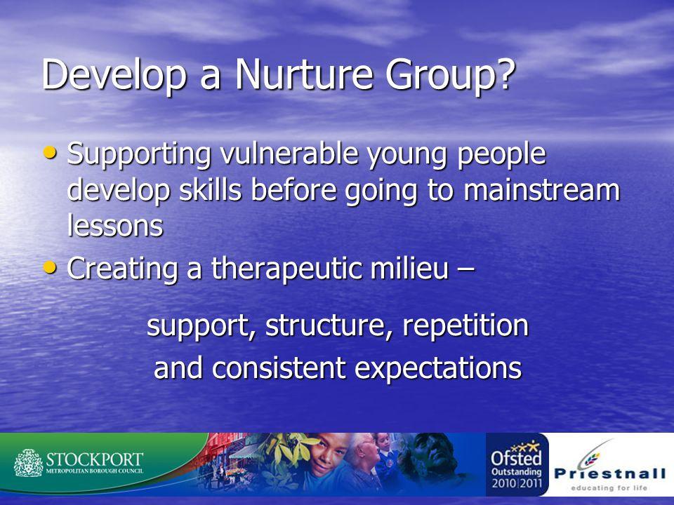 Develop a Nurture Group.
