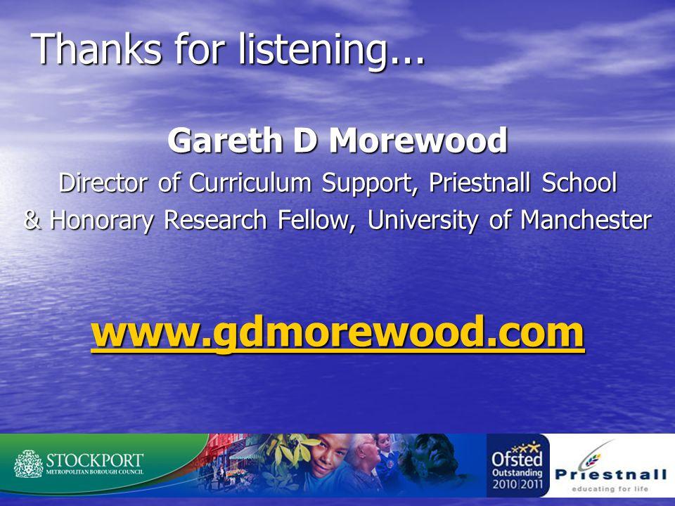 Thanks for listening...