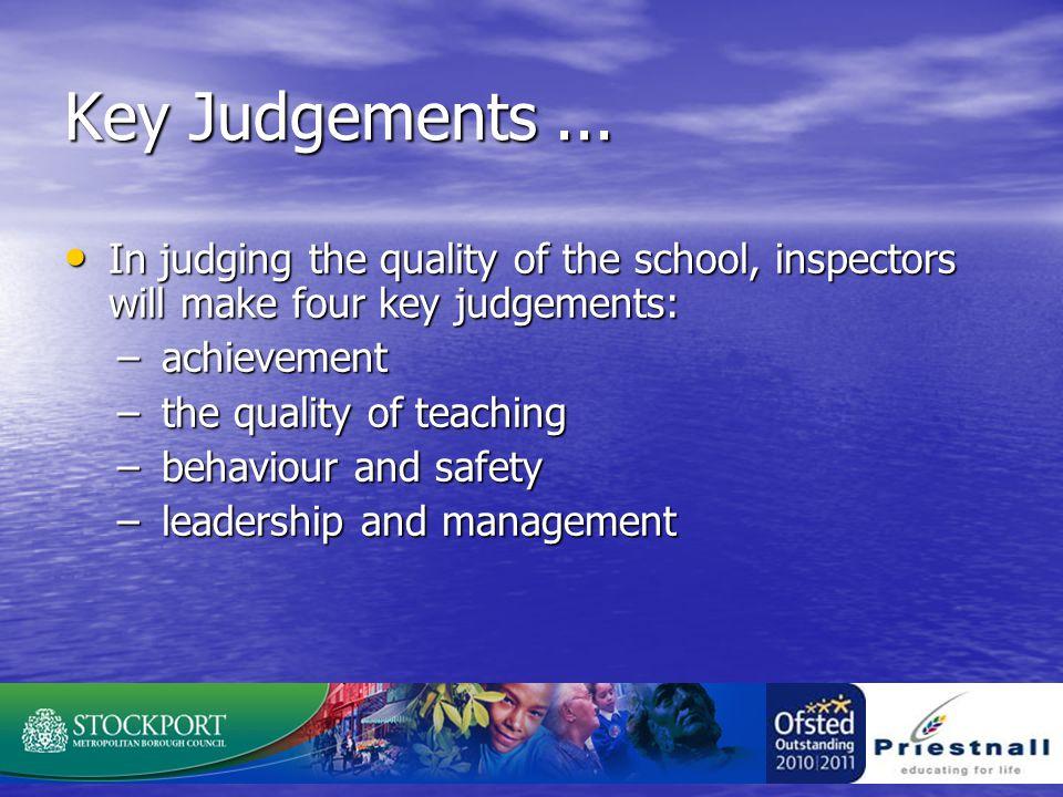 Key Judgements...