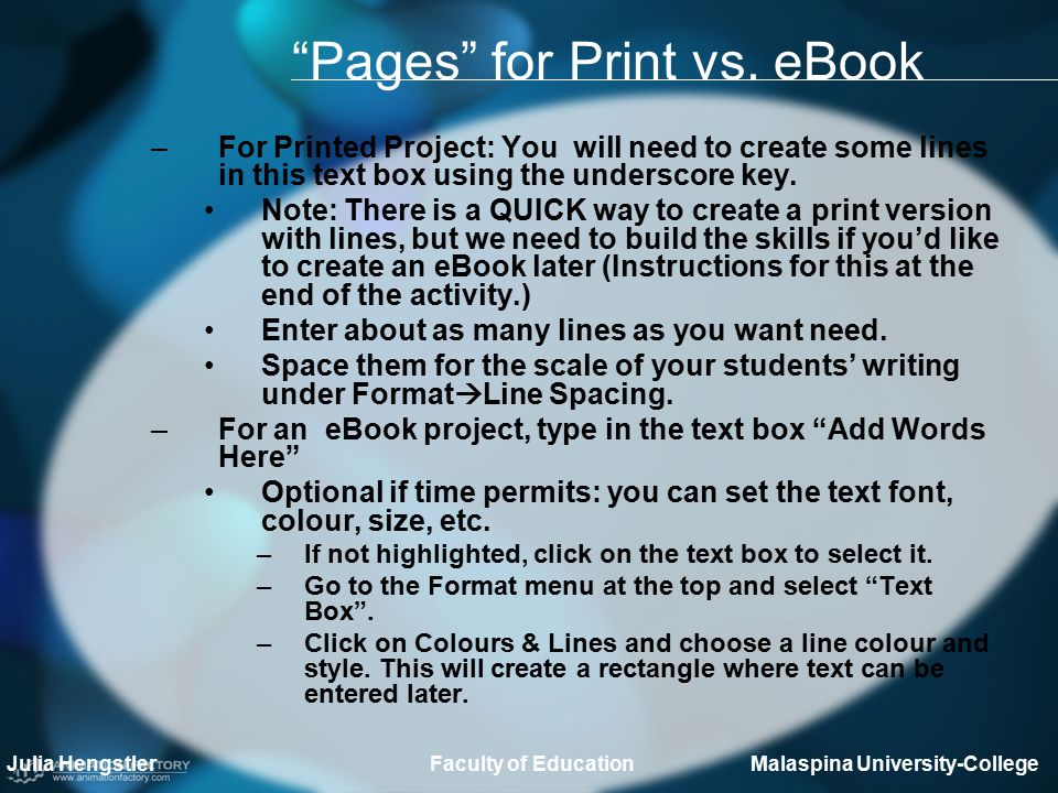 Pages for Print vs.