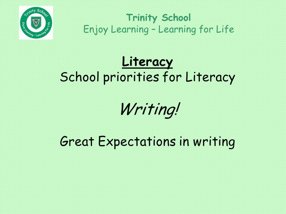Literacy School priorities for Literacy Writing.