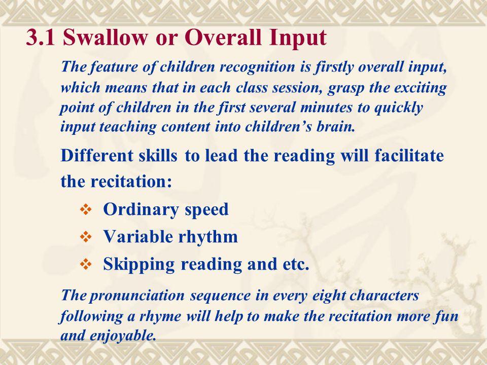 3. Four Steps in CCC Teaching Methodology  3.1 Swallow  3.2 Ruminate  3.3 Transfer  3.4 Integration