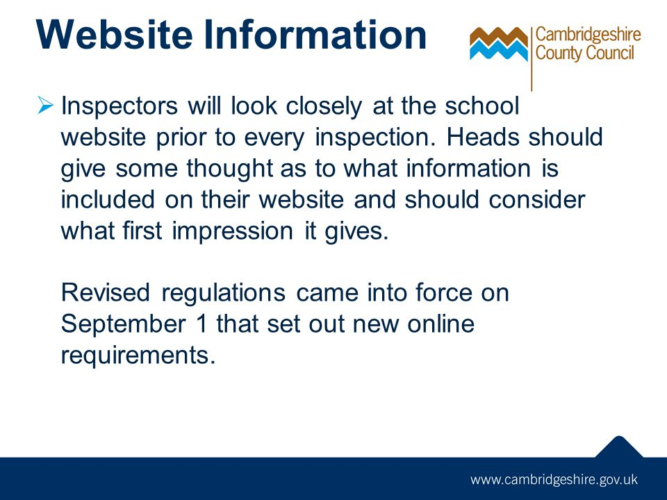 Websites must include  Pupil Premium allocation, use and impact on attainment.