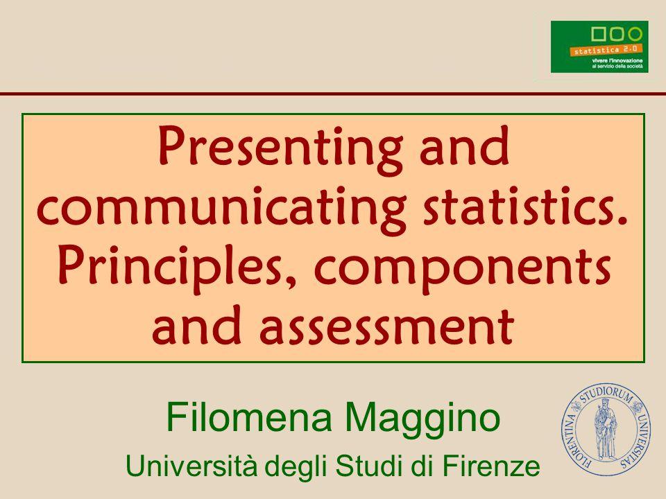 2. Communicating statistics 1. Fundamental aspects Contents 2. Main components 3. The codes