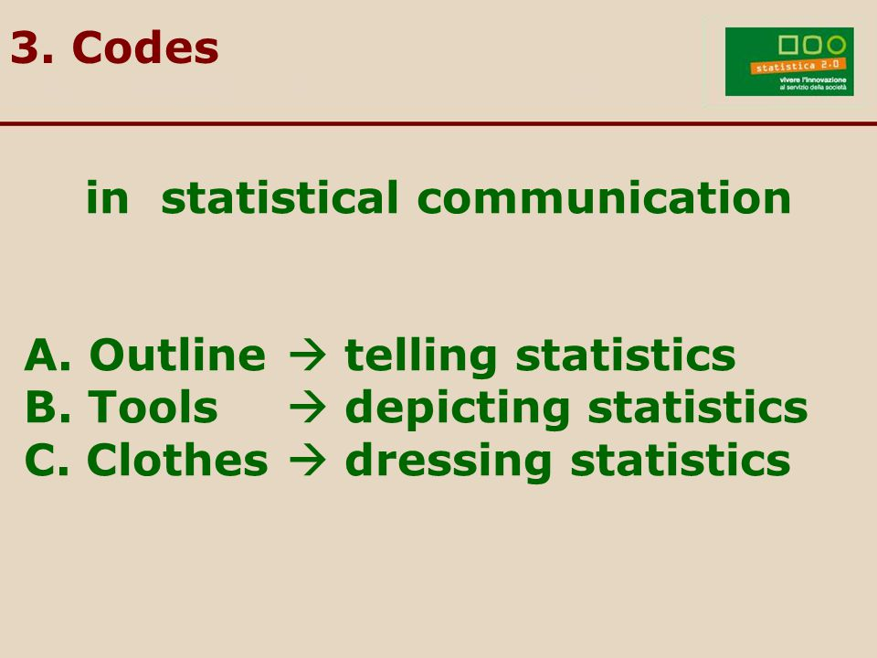 in statistical communication A. Outline  telling statistics B.