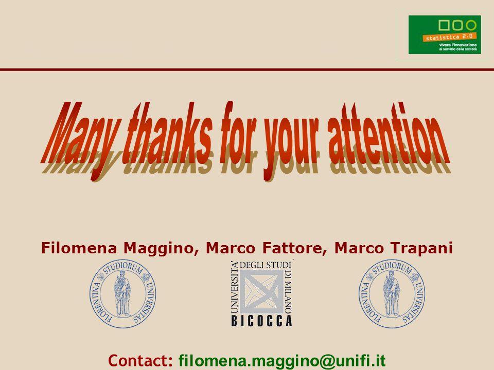 Filomena Maggino, Marco Fattore, Marco Trapani Contact: filomena.maggino@unifi.it
