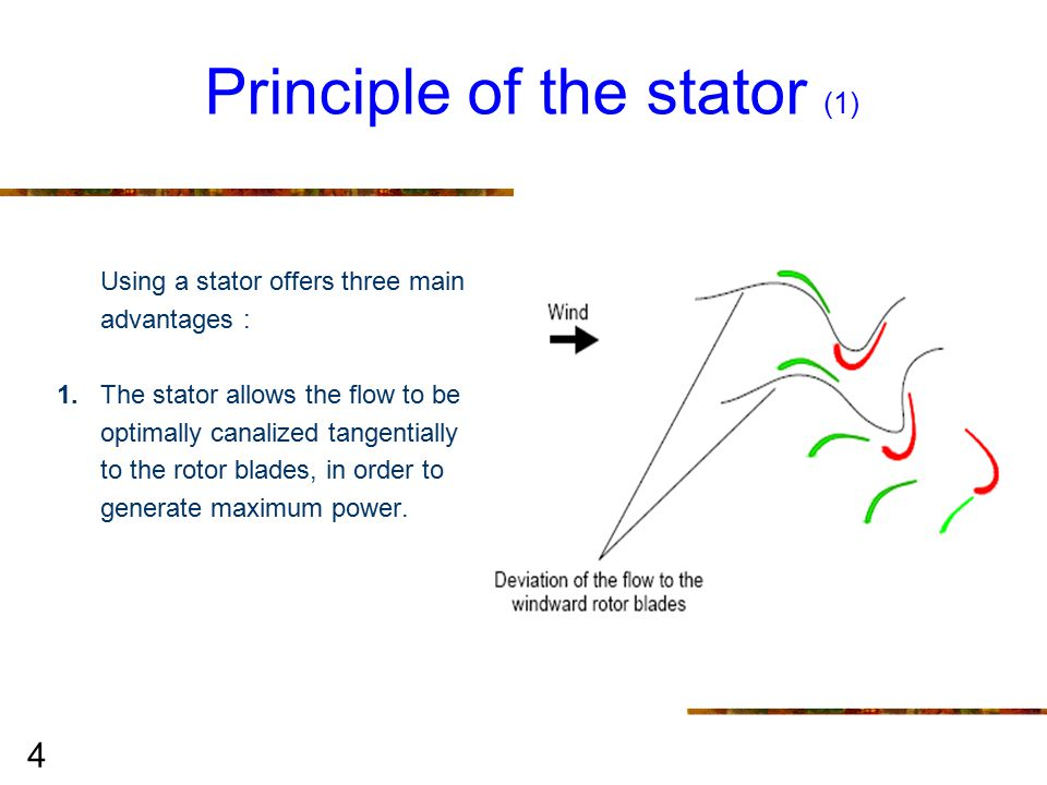 15 Working in torque and not in speed rotation The STATOEOLIEN working is linked to the torque and not to the Rotation speed, leading to a reduced linear speed of rotor blade tips.