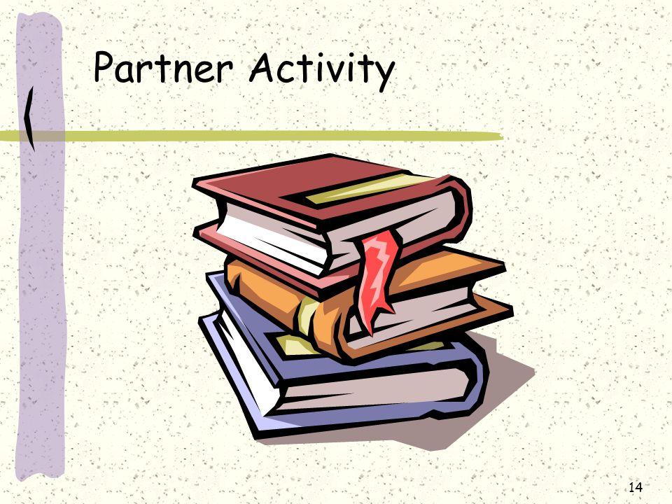 Partner Activity 14