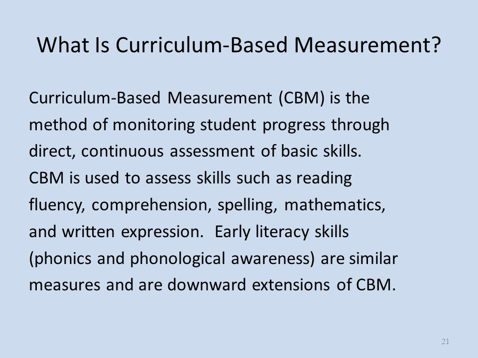 What Is Curriculum-Based Measurement.