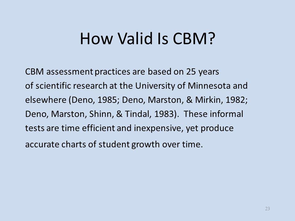 How Valid Is CBM.