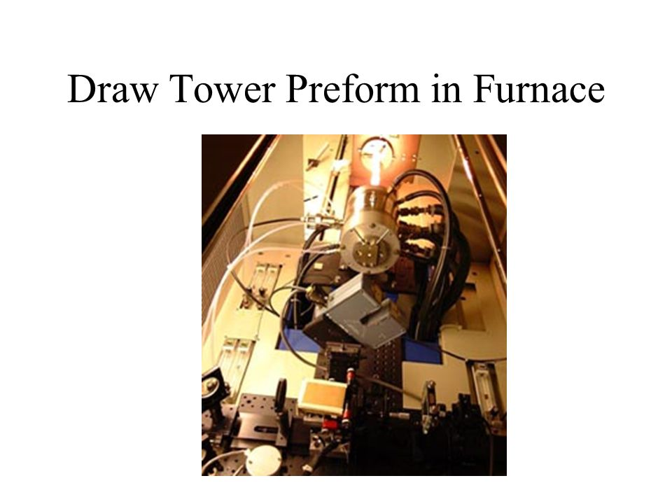 Draw Tower Preform in Furnace