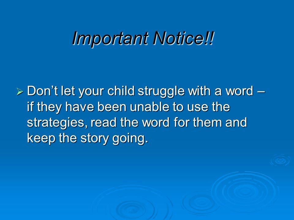 Important Notice!.