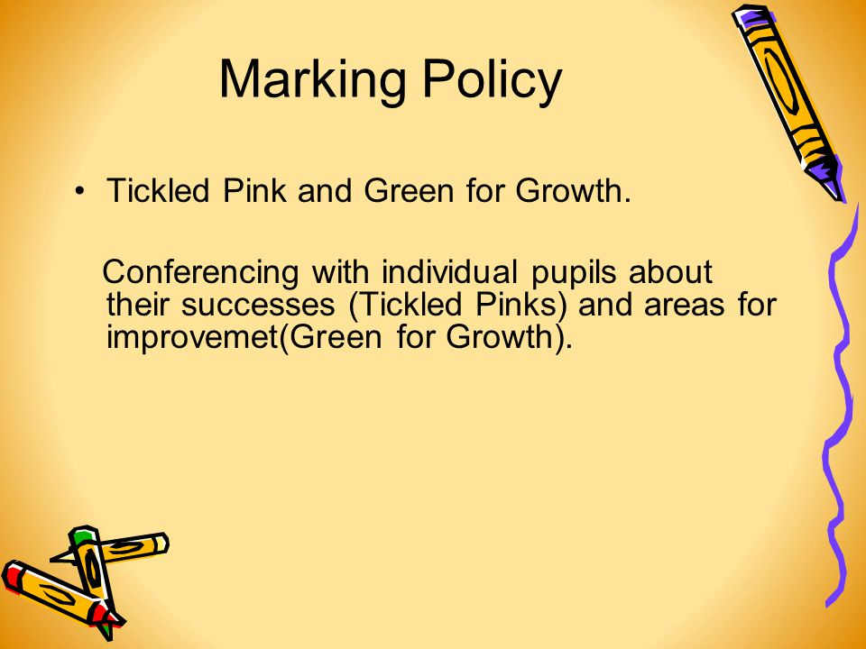 Marking Policy Tickled Pink and Green for Growth.