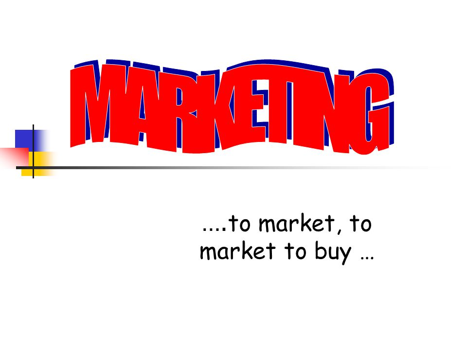 …. to market, to market to buy …
