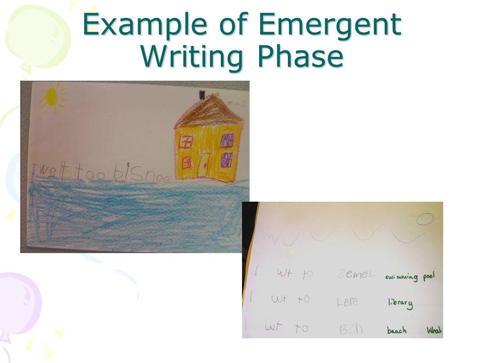 Example of Emergent Writing Phase