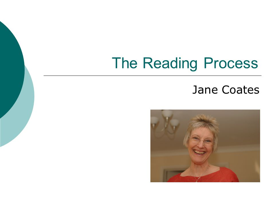 The Reading Process Jane Coates