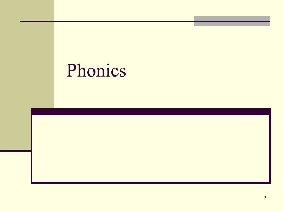 1 Phonics