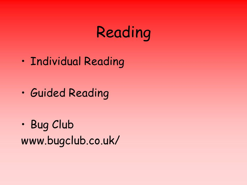 Reading Individual Reading Guided Reading Bug Club www.bugclub.co.uk/
