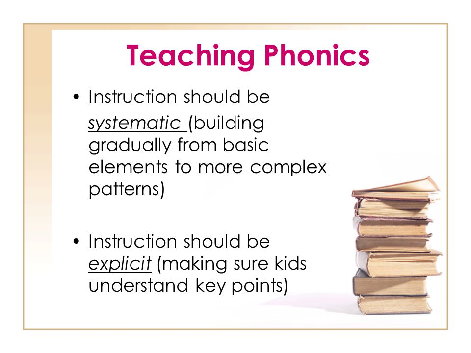 Types of Approaches Synthetic = explicitly converting letters into sounds and then blending them together to form words Analogy= teaching unfamiliar words by recognizing onsets and rimes