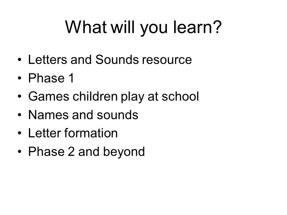 What will you learn.