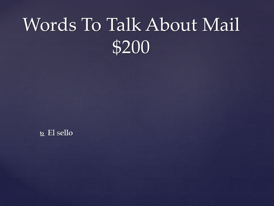  El sello Words To Talk About Mail $200