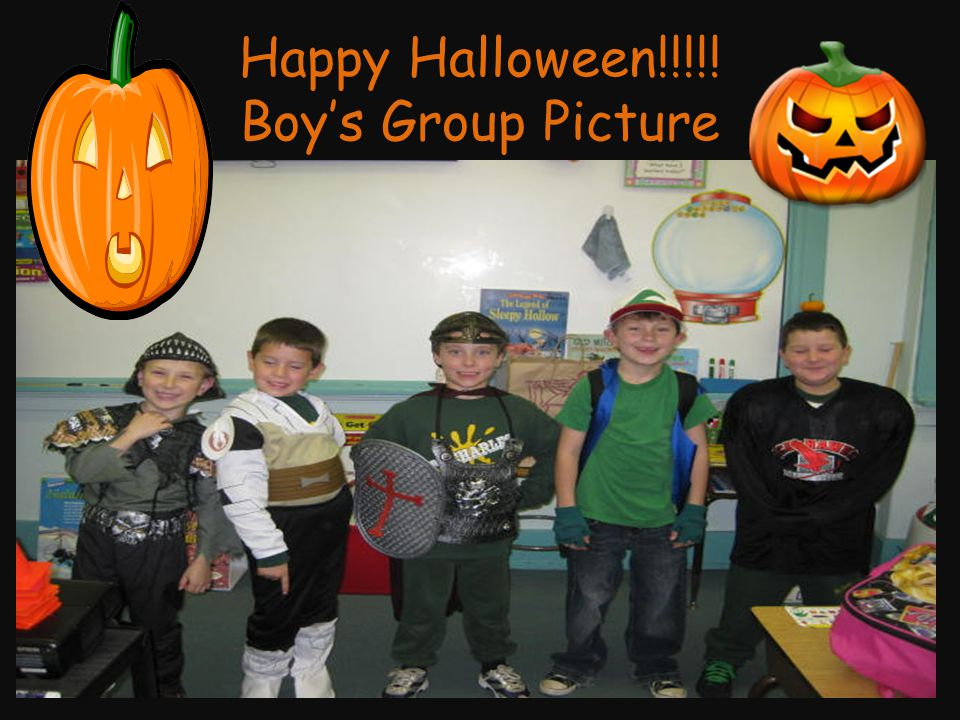 Happy Halloween!!!!! Boy's Group Picture
