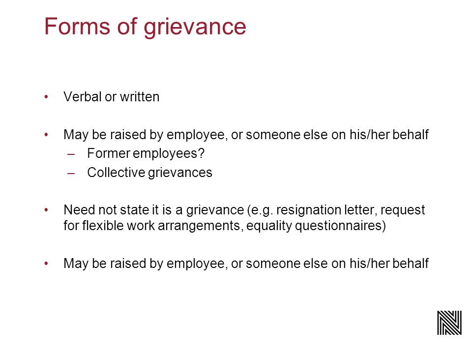 Employment Webinar The grievance process workplace disputes and the