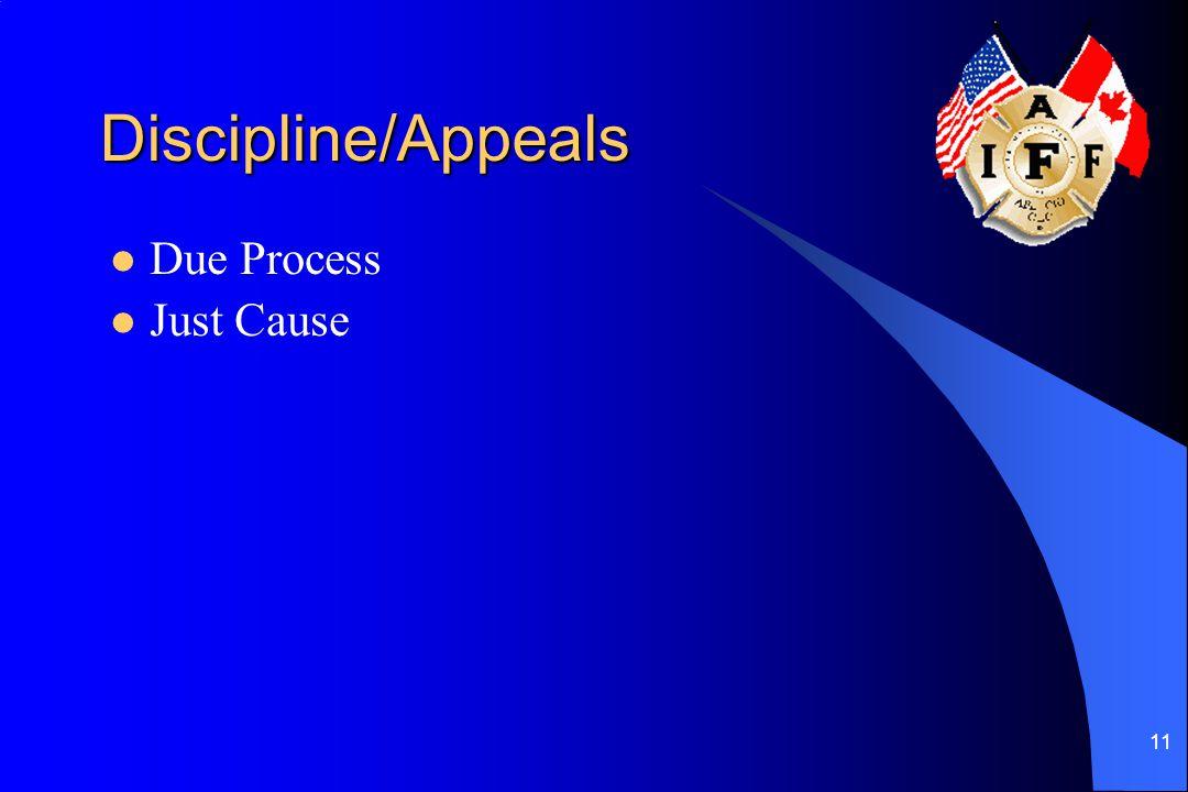 11 Discipline/Appeals Due Process Just Cause