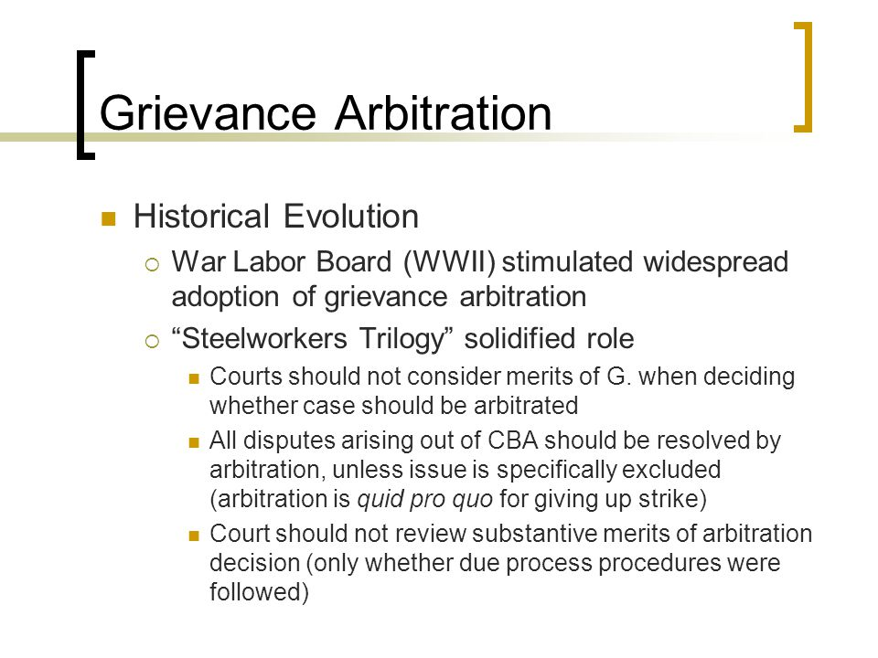 NLRB deferral to arbitration G.