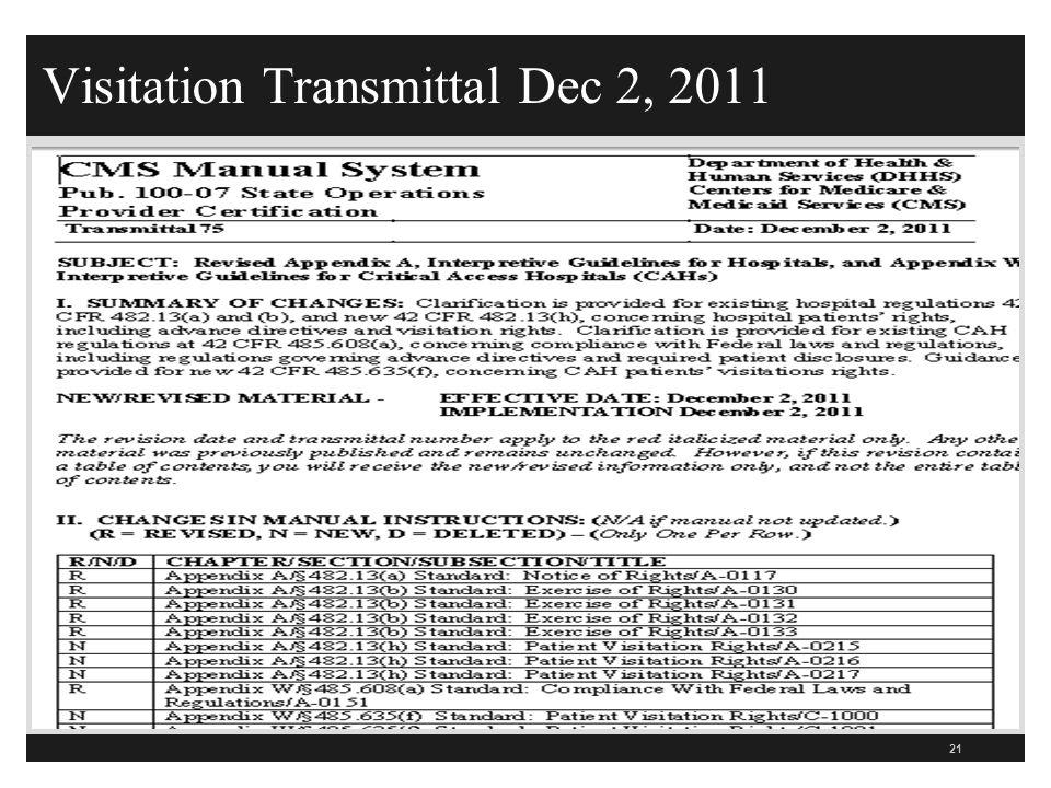 Visitation Transmittal Dec 2, 2011 21